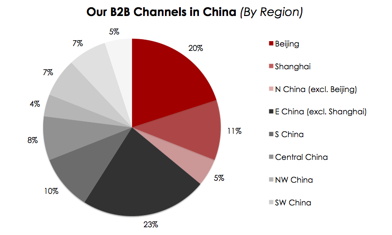 B2B Channels in China (By Region)